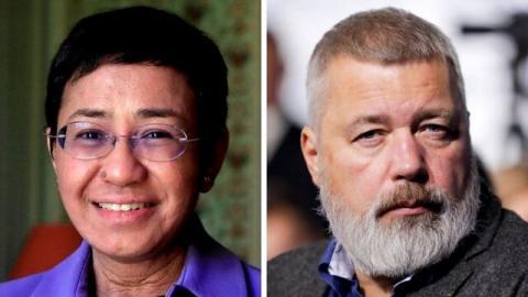 دو روزنامه نگار برنده جایزه صلح نوبل شدند