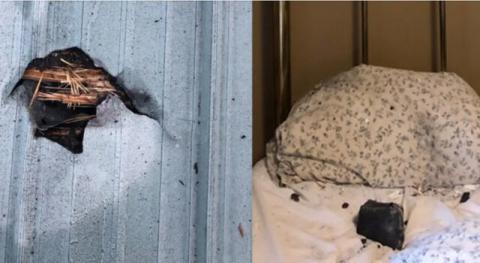 برخورد شهابسنگ به تختخواب زنی در کانادا+عکس