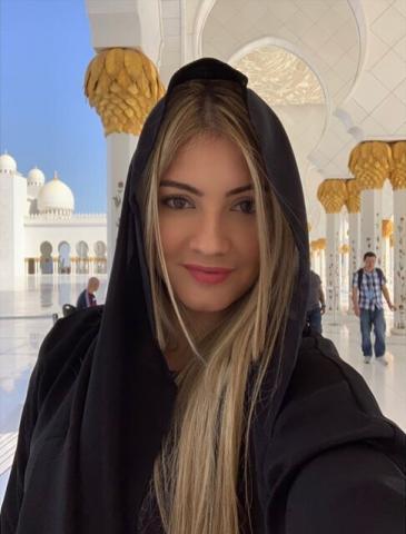 پوشش همسر بازیکن رئال مادرید در مسجد/تصویر