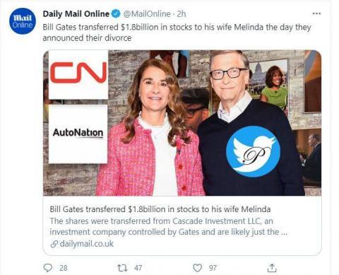 مهریه ۱.۸ میلیارد دلاری همسر بیل گیتس